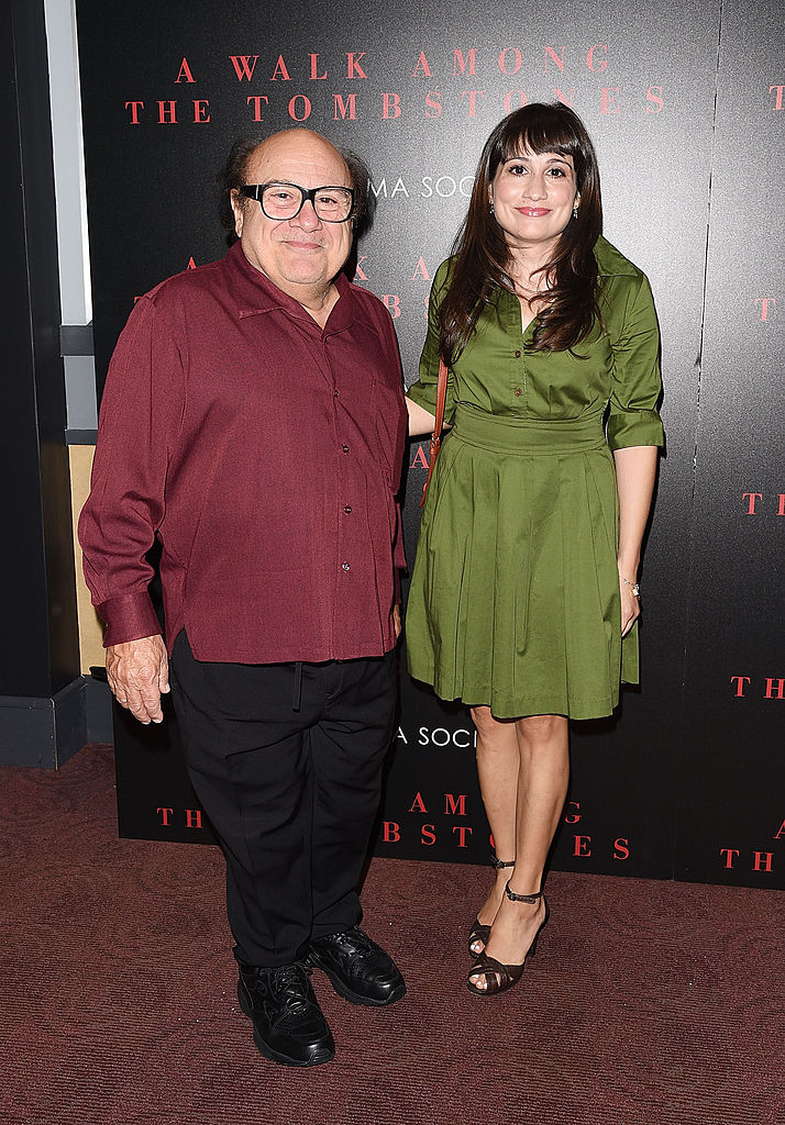 "NEW YORK, NY - SEPTEMBER 17:  Actors Danny DeVito and Lucy DeVito attend the Universal Pictures and Cross Creek Pictures with The Cinema Society screening of ""A Walk Among the Tombstones"" at Chelsea Bow Tie Cinemas on September 17, 2014 in New York City.  (Photo by Andrew H. Walker/Getty Images)"