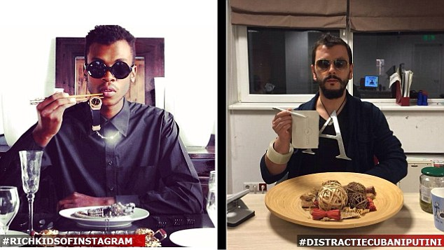 "Picture shows : Rich kids showing off their wealth on instagram (left) and the spoof of Romanians (right) Kentucky fried chicken restaurants are doing well in Romania after a campaign aiming to show you don't need to have lots of money to enjoy good food. The strategy involves surfing Internet for signs of rich kids showing off their wealth in selfie's with everything from diamond rings through to private jets or exclusive sport cars included in the snap. KFC however invited Romanian teenagers to send in their own versions of the snaps, minus the obvious signs of money and the expensive things that it buys. Romanian KFC fans who enthusiastically took part in the campaign replaced diamonds with diamond tattoos, lions with cats, infinity pools with inflatable ones and private jets with toy planes. They then posted the under the hashtag #distractiepebaniputini (which translates from the Romanian as ""fun with little money""). The company wanted to say that it was also possible to have good food with very little money, and it has been hailed as a huge success with the company's Smart Menu, a low priced KFC meal deal, massively popular. The idea for the campaign was created by MRM Romania where the campaign was devised by the chief creative officer, Nir Refuah, the copywriter Sandra Bold and the art director Nadejda Ghilca."