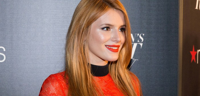 Bella Thorne attends Macy's Presents Fashion's Front Row on Thursday, Sept. 17, 2015, in New York. (Photo by Michael Zorn/Invision/AP)